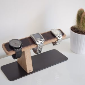 Watch Stand Light Oak Style and Panache